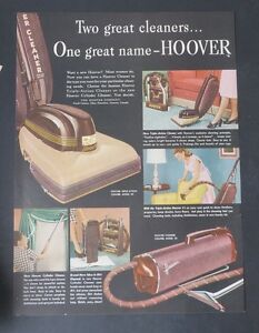 Original-Print-Ad-1949-HOOVER-Two-Great-Cleaners-Cylinder-Triple-Action