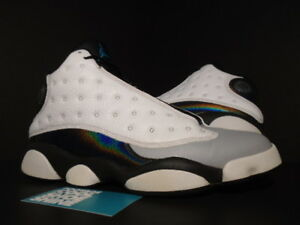 715a96b3bb6584 Nike Air Jordan XIII 13 Retro BIRMINGHAM BARONS WHITE BLACK WOLF ...