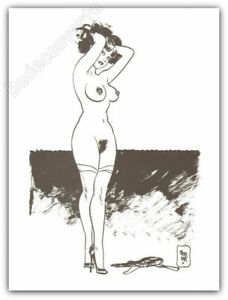 Affiche Jordi Bernet Pin Up 09 Chiara Di Notte 28,5x38 Cm BéNéFique à La Moelle Essentielle