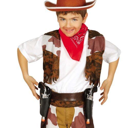 Kinder Pistolenholster mit zwei Pistolen Cowboy Pistolengürtel Pistolenhalfter