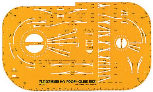 Fleischmann 9921 binario piano Stencil Profi binario