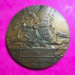 #646 - Rare - Médaille - Henri Germain Du Crédit Lyonnais Facture Top PastèQues