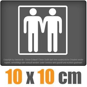Gay-10-x-10-cm-JDM-decal-Sticker-Adhesivo-racing-disco-coche-car-blanco