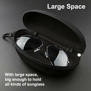 Portable-Zipper-Sunglasses-Carry-Box-Case-Eye-Glasses-Clam-Hard-Shell-Protector