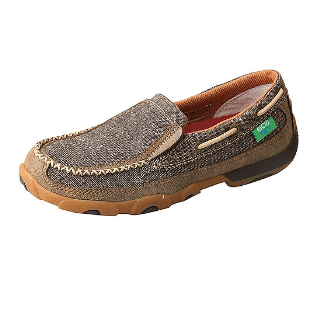 Wdms 009 Twisted X Femme Eco TWX Slip-on Driving Moc-Poussière NEUF