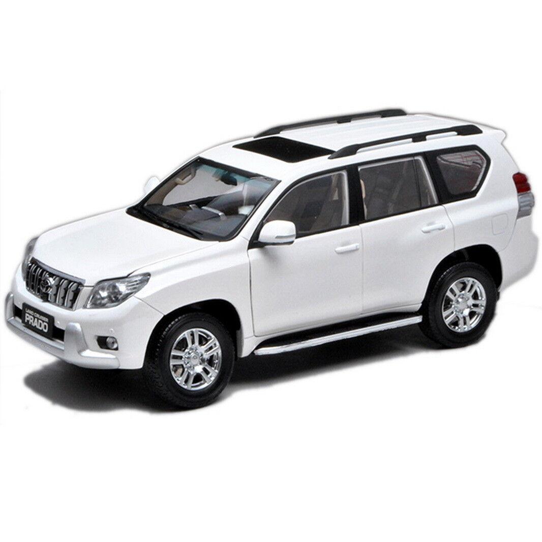 1 18 Scale Toyota Land Cruiser Prado bianca Without Decal Diecast Car Model