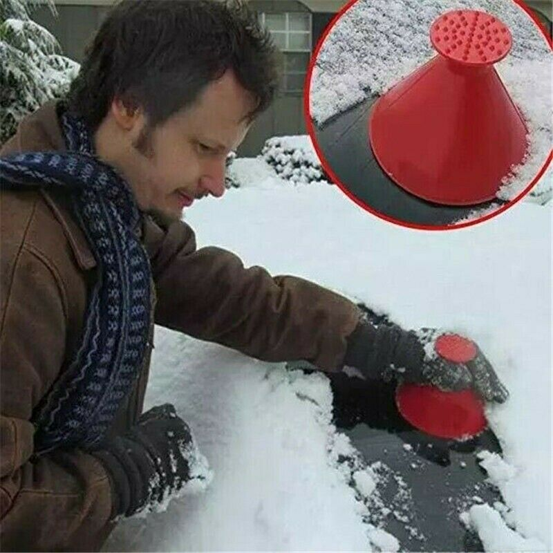 Magical Car Windshield Ice Snow Remover Scraper Tool Cone Shaped Round Funnel 1x 2