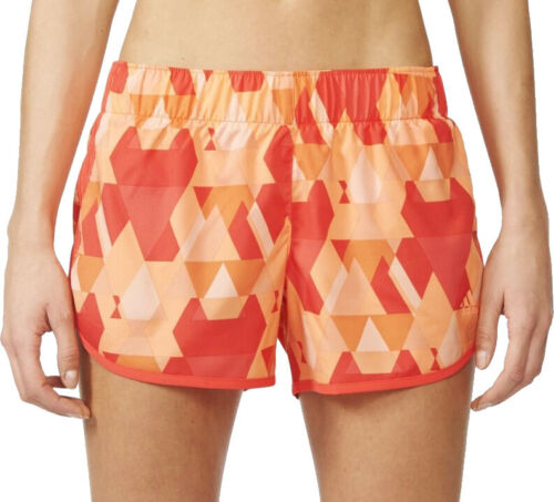 Adidas M10 Graphic Womens Running Shorts Orange