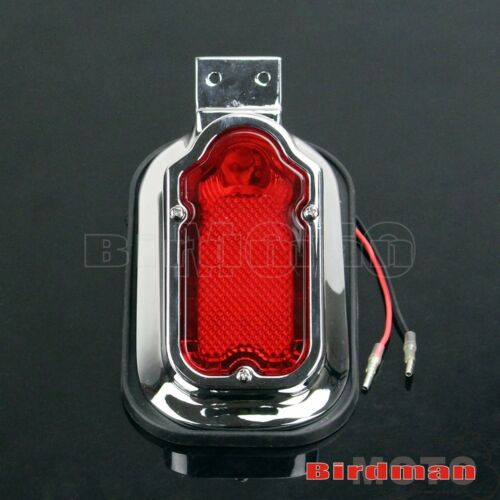 Motorcycle Retro Aluminum Red Tombstone Brake Tail Light For Harley Davidson