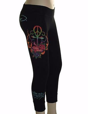 UnermüDlich New Women's Ed Hardy Christian Audigier Stretch Cropped Leggings True Love Hochwertige Materialien