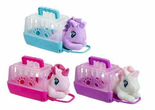 Carry Case Unicorn Pet My Little Plush Unicorn In Carrier 15cm x 9.5cm