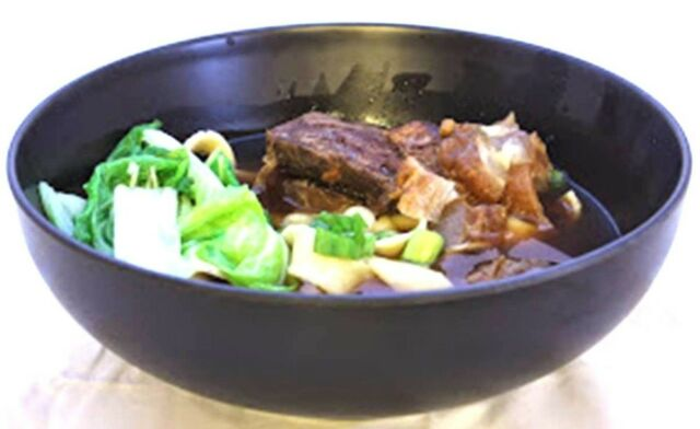 Melamine Korea Style Round Bowls Bibimbap Ramen Pho Cold Noodle Soup Bowl  Black