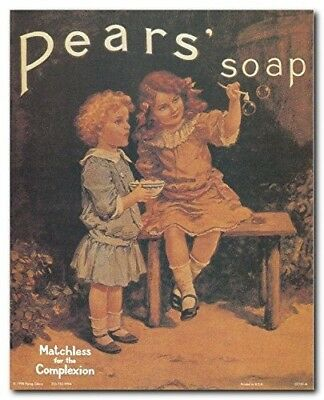 Vintage Forgotten My Pears Soap Advertisement Bathroom 16x20 Two Wall Art Print