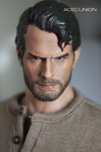 1//6 Superman Henry Cavill Head Sculpt Clark Kent 3.0 For Hot Toys Figure USA