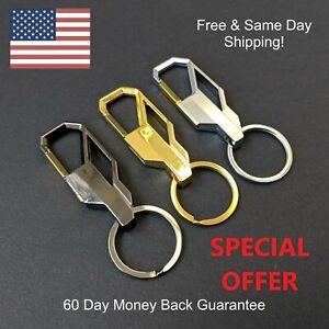 Men/'s Creative Metal Alloy /& Leather Car Keyring Keychain Key Chain Ring Keyfob