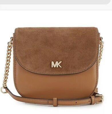 80dee10eded5 NWT MICHAEL Michael Kors Acorn Half Dome W Suede Flap Crossbody Bag ...