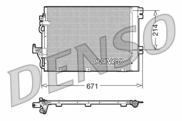 Denso DCN20009 Condenseur Remplacement 1850096 817839