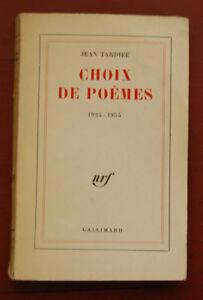 Détails Sur Choix De Poèmes Jean Tardieu 1961