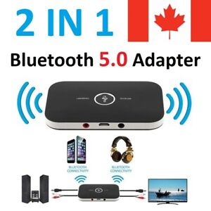 Bluetooth 5.0 Receiver 2 in 1 Audio Wireless Adapter for Car Stereo TV Speaker