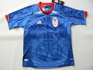 Official adidas Olympic GB Football LONDON 2012 Team Shirt Boys Size 7 8 Years
