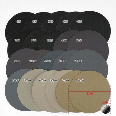 30X 125mm Körnung 1000//1500//2000//3000//5000 //7000# Schleifscheiben Neu Set New
