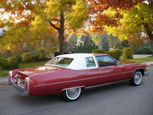 1975 Cadillac Coupe Deville, Red/White, Refrigerator ...