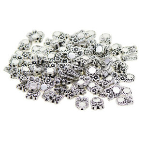 100Pcs-Tibetan-Silver-Owl-Spacer-Charm-Beads-Bracelet-Connector-Loose-Beads