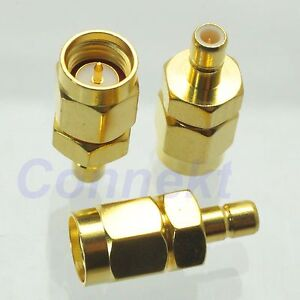 1pce FME Male Plug to SMB Male Plug RF Coax Adapter Connector Straight
