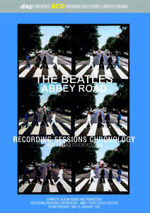BEATLES  / COLLECTOR'S ITEM ABBEY ROAD SESSIONS CHRONOLOGY Press 6xCD SET