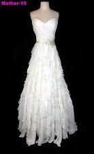 ORG $799 Eden Bridals Ivory 12 Formal Wedding Dress Chiffon A-line Bridal Gown