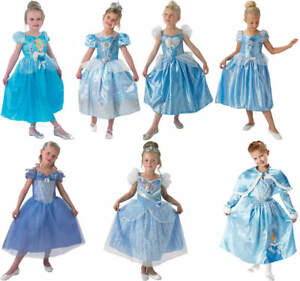 Disney Cinderella Prinzessin Kinder Karneval Fasching Kostum 104 128