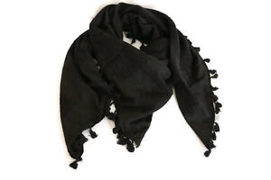 715ec752960 Details about Hirbawi Scarf Shemagh Black Keffiyeh Unisex 47