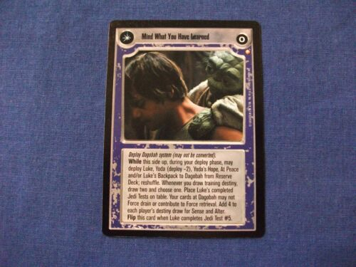 Star Wars CCG Special Edition Mind What You Have Learned//Save You It Can