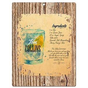 PP0559-Cocktail-Collins-Plate-Chic-Sign-Bar-Shop-Cafe-Restaurant-Kitchen-Decor