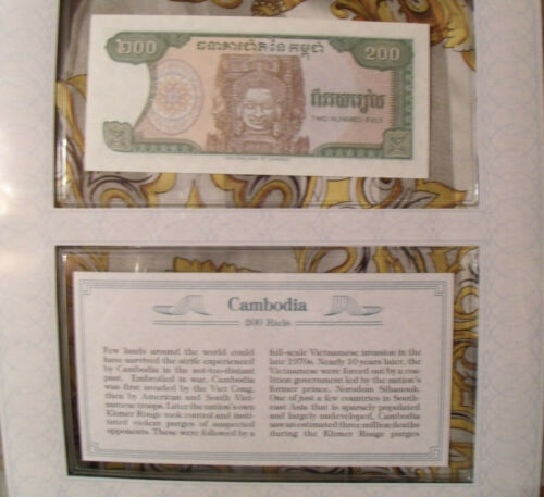 *Most Treasured Banknotes Cambodia P 37 1992  200 Riels UNC