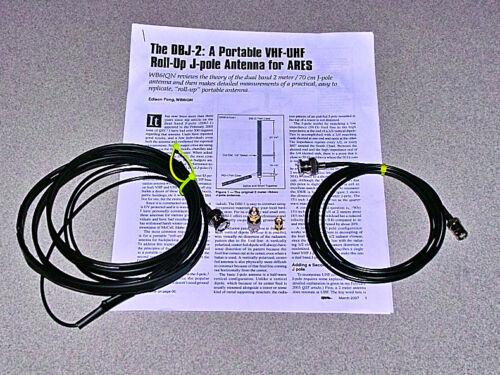 DBJ-2 VHF UHF Dual Band Roll Up portable Antenna