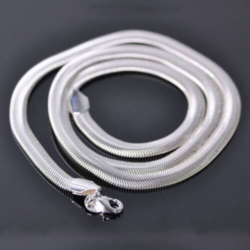 "1Strand 16/"" ~ 24/"" 6mm Silver Plated Copper Flat Snake Chain Necklace DIY Making"