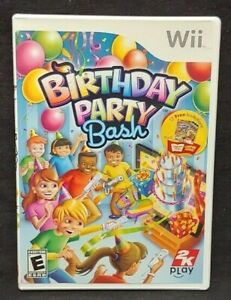 Birthday Bash Party  - Nintendo Wii Wii U Game 1 Owner CLEAN Mint Disc !