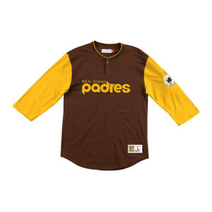 Mitchell-amp-Ness-San-Diego-Padres-034-Franchise-Player-034-Henley-Brown-MLB-Shirt