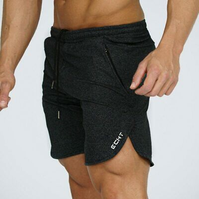 Echt Synth Men/'s Shorts Gym Fitness Running Jogging Soft Training Knit Joggers