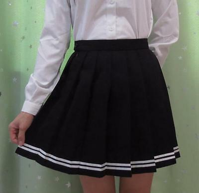 JK Uniform Girls Mini Pleated Skirt Japan Anime School Cosplay Sailor Dress