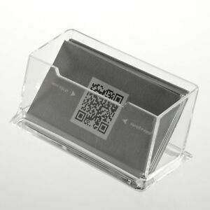Acrylic-Clear-Desktop-Business-Card-Holder-Stand-Display-Dispenser-Office-AL