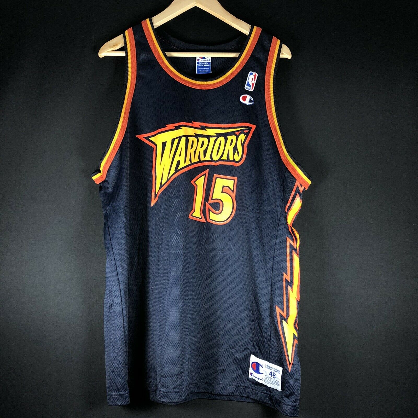 Champion USA Sprewell NBA Trikot Warriors Basketball Jersey Jordan XL 48 Bogues