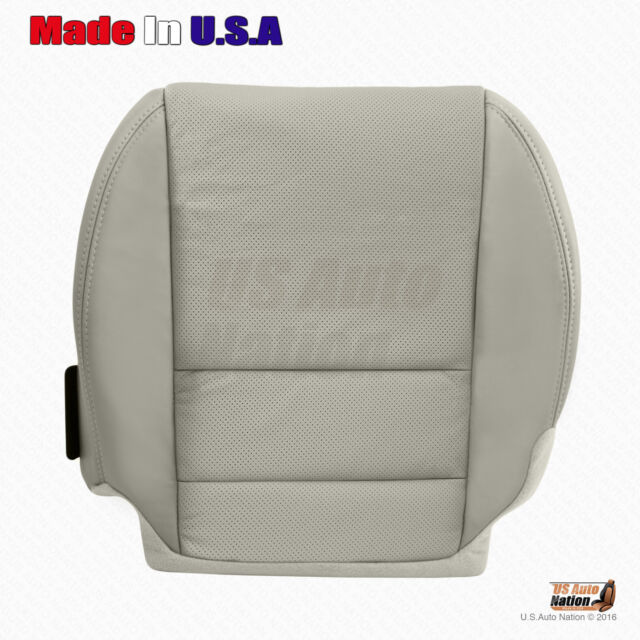 Left Side Bottom Perforated Leather Gray Seat Cover For