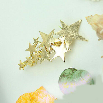 Gold Silver Women Feather Leaf Leaves Hair Clip Barrette Bobby Hairpin Jewelry