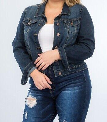 Plus Size Denim Jacket, Denim Jacket, Stretch Denim Jacket, Stretch Jean Jacket Beneficial To The Sperm