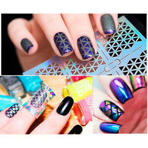 6-Patterns-Sheet-Nagel-Vinyls-Holografisch-Hollow-Nail-Stickers-Transfer-Decals