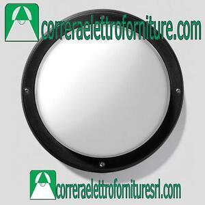 Plafoniera-vetro-rotonda-parete-soffitto-esterno-PRISMA-EKO-26-nero-E27-300335