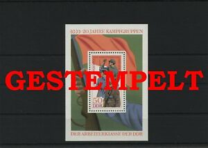 Germany-GDR-DDR-R-d-a-Vintage-1973-Mi-Bloc-39-Timbres-Used-Plus-Sh-Boutique