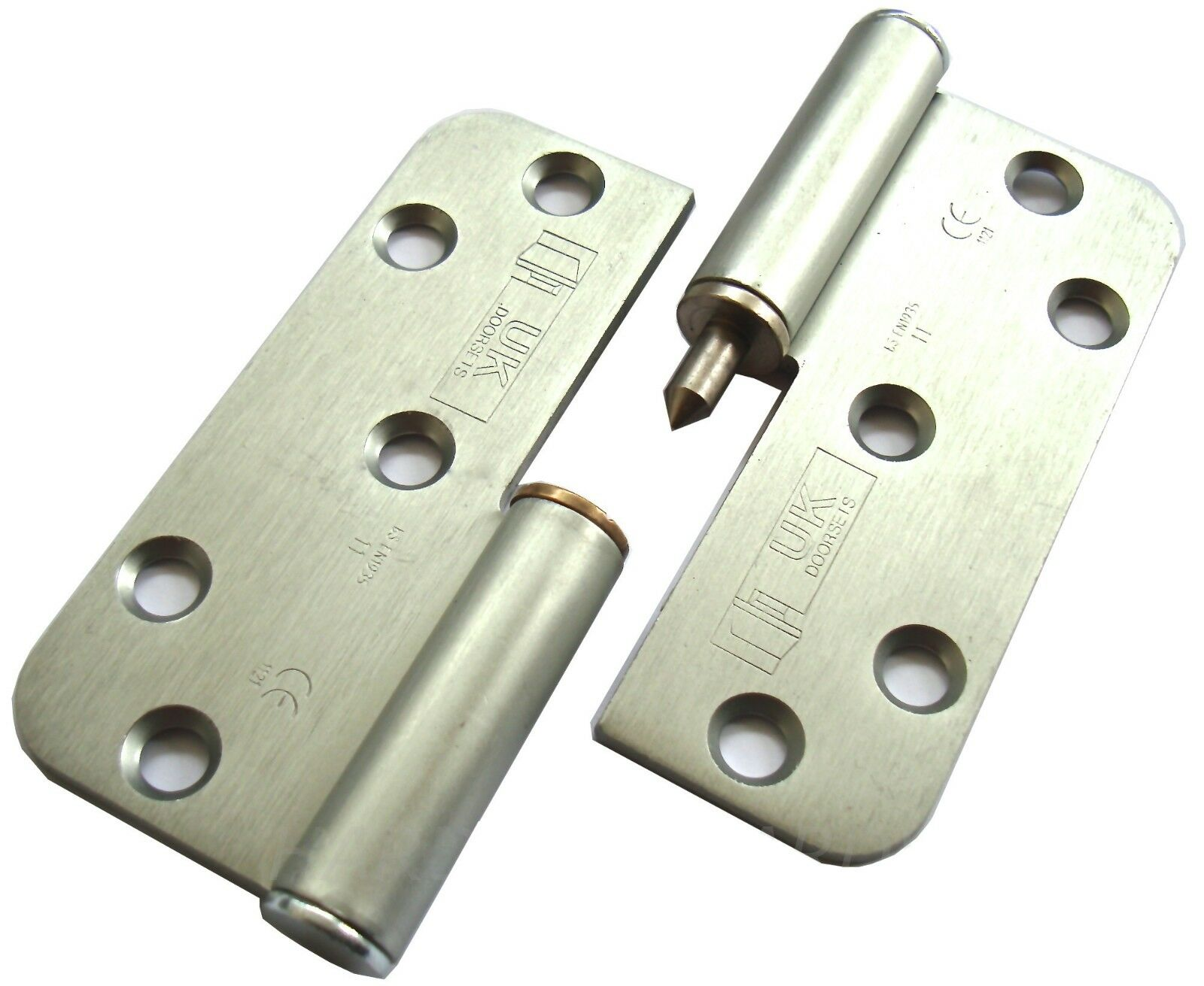 "1 PAIR 4""100MM GRADE.11 QUALITY LIFT OFF HINGES HI-LOAD L.H, SATIN FINISH"